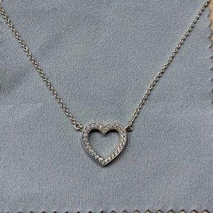 Pandora Sparkling Open Heart Necklace